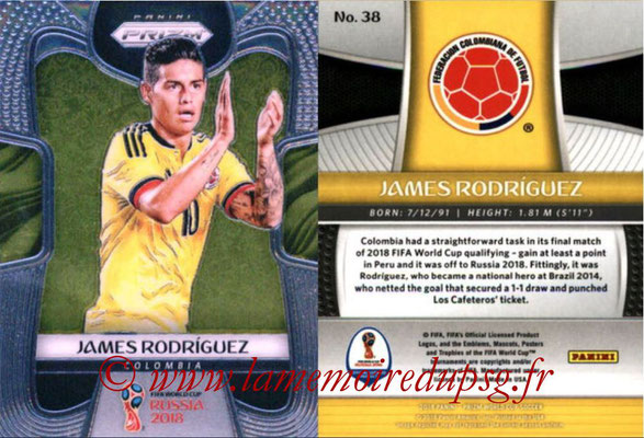 2018 - Panini Prizm FIFA World Cup Russia - N° 038 - James RODRIGUEZ (Colombie)