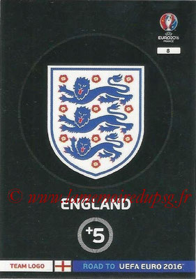 Panini Road to Euro 2016 Cards - N° 008 - Ecusson Angleterre