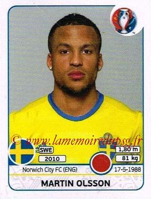Panini Euro 2016 Stickers - N° 555 - Martin OLSSON (Suède)