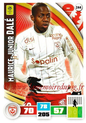 2016-17 - Panini Adrenalyn XL Ligue 1 - N° 244 - Maurice-Junior DALE (Nancy)