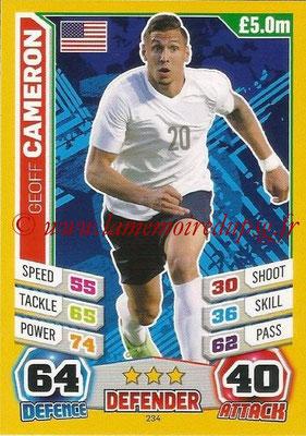 Topps Match Attax England 2014 - N° 234 - Geoff CAMERON (Etats-Unis)
