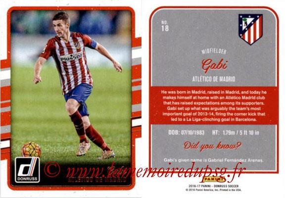 2016 - Panini Donruss Cards - N° 018 - GABI (Atlético de Madrid)