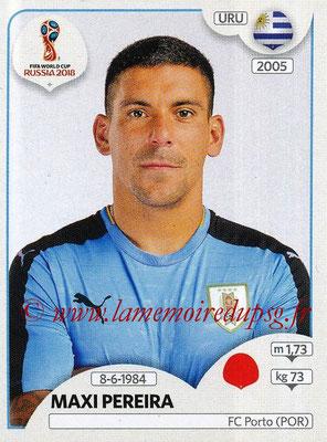 2018 - Panini FIFA World Cup Russia Stickers - N° 095 - Maxi PEREIRA (Uruguay)