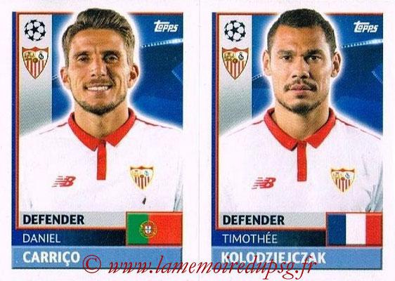 2016-17 - Topps UEFA Champions League Stickers - N° SEV 8-9 - Timothée KOLODZIEJCZAK + Daniel CARRICO (FC Seville)