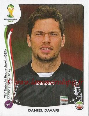 2014 - Panini FIFA World Cup Brazil Stickers - N° 452 - Daniel DAVARI (Iran)