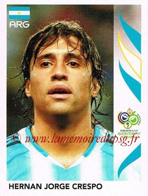 2006 - Panini FIFA World Cup Germany Stickers - N° 184 - Hernan Jorge CRESPO (Argentine)