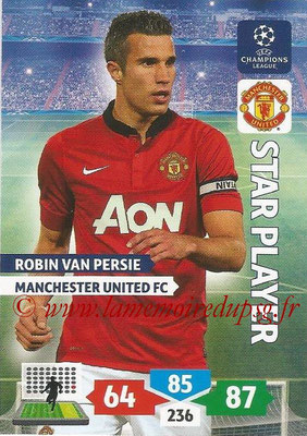 2013-14 - Adrenalyn XL champions League N° 179 - Robin VAN PERSIE (Manchester United FC) (Star Player)