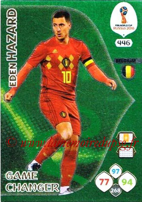 2018 - Panini FIFA World Cup Russia Adrenalyn XL - N° 446 - Eden HAZARD (Belgique) (Game Changer)