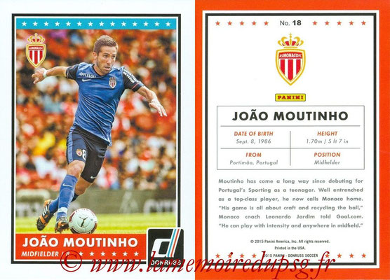 2015 - Panini Donruss Soccer - N° 018 - Joao MOUTINHO (AS Monaco)