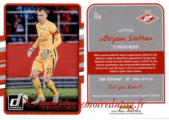 2016 - Panini Donruss Cards - N° 156 - Artyom REBROV (Spartak Moscou)