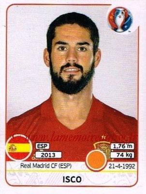Panini Euro 2016 Stickers - N° 365 - ISCO (Espagne)