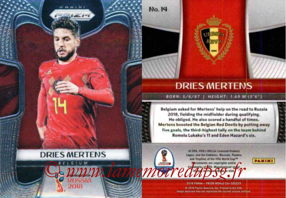 2018 - Panini Prizm FIFA World Cup Russia - N° 014 - Dries MERTENS (Belgique)