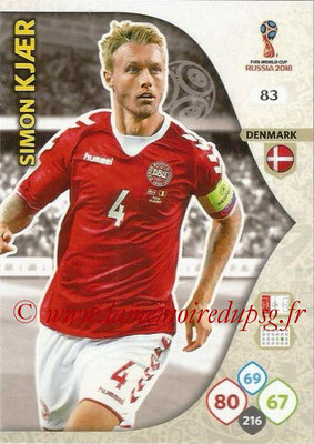 2018 - Panini FIFA World Cup Russia Adrenalyn XL - N° 083 - Simon KJAER (Danemark)