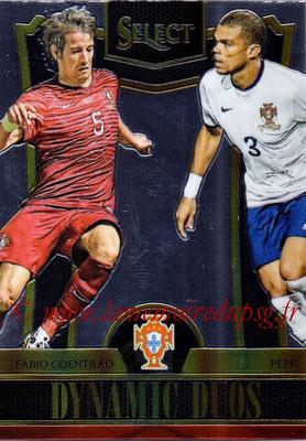 2015 - Panini Select Soccer - N° DD08 - Fabio COENTREAO + PEPE (Portugal) (Dynamic Duos)