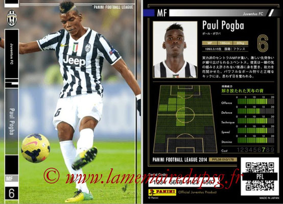 Panini Football League 2014 - PFL08 - N° 010 - Paul POGBA (Juventus FC)