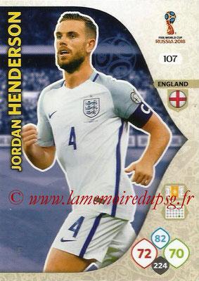 2018 - Panini FIFA World Cup Russia Adrenalyn XL - N° 107 - Jordan HENDERSON (Angleterre)