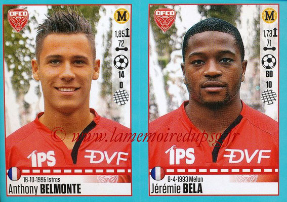 2016-17 - Panini Ligue 1 Stickers - N° 202 + 203 - Anthony BELMONTE + Jérémie BELA (Dijon)