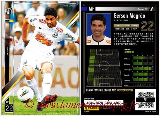 Panini Football League 2013 - PFL02 - N° 078 - Gerson Magrao ( Santos FC )