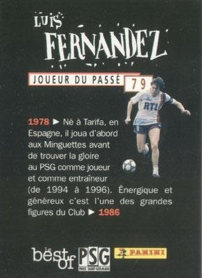 N° 079 - Luis FERNANDEZ (Verso)