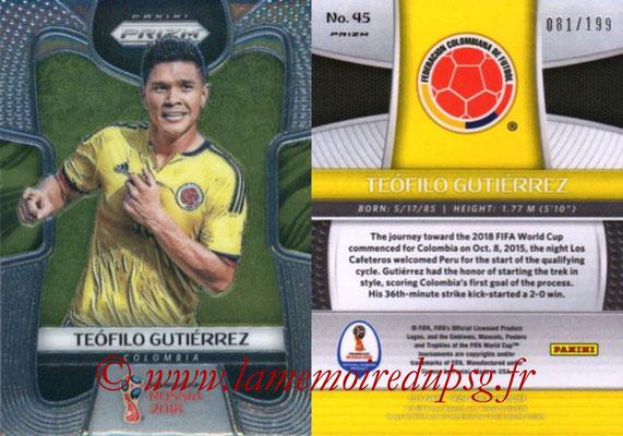 2018 - Panini Prizm FIFA World Cup Russia - N° 045 - Teofilo GUTIERREZ (Colombie)