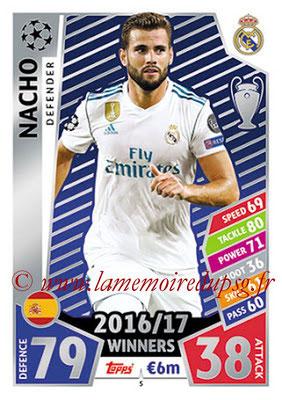 2017-18 - Topps UEFA Champions League Match Attax - N° 005 - NACHO (Real Madrid CF)