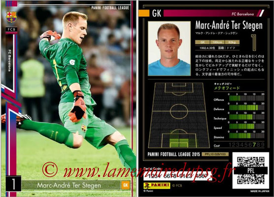 Panini Football League 2015 - PFL10 - N° 028 - Marc-André TER STEGEN (FC Barcelone)