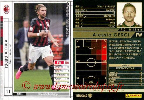 2015-16 - Panini WCCF - N° 158 - Alessio CERCI (Milan AC)