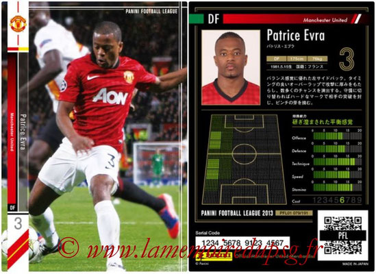 Panini Football League 2013 - PFL01 - N° 079 - Patrice Evra ( Manchester United  )