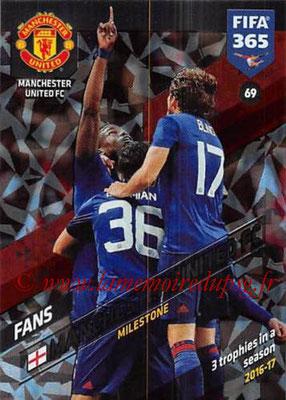 2017-18 - Panini FIFA 365 Cards - N° 069 - Célébration Manchester United (Milestone)