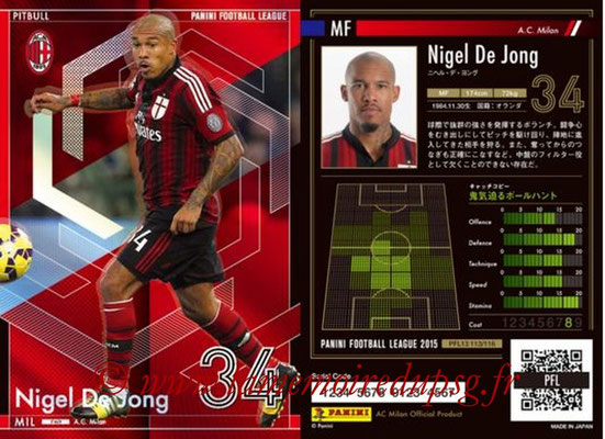 Panini Football League 2015 - PFL13 - N° 113 - Nigel DE JONG (Milan AC) (Pitbull)