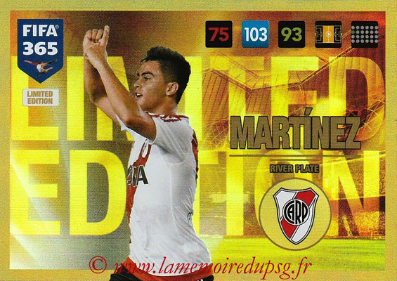 2016-17 - Panini Adrenalyn XL FIFA 365 - N° LE03 - Gonzalo MARTINEZ (CA River Plate) (Limited Edition)