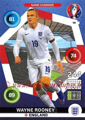 Panini Euro 2016 Cards - N° 098 - Wayne ROONEY (Angleterre) (Game Changer)