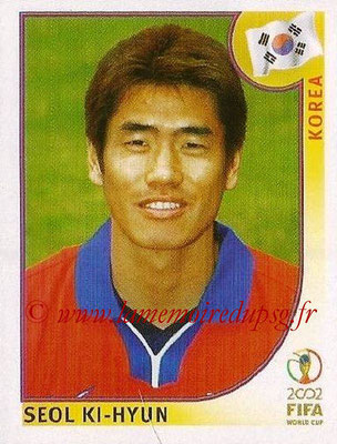 2002 - Panini FIFA World Cup Stickers - N° 256 - Seol KI-HYUN (Corée)