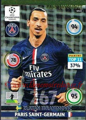 2014-15 - Adrenalyn XL champions League Update edition N° UE121 - Zlatan IBRAHIMOVIC (Paris Saint-Germain) (Fans' Favourite)