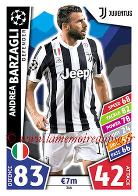 2017-18 - Topps UEFA Champions League Match Attax - N° 366 - Andrea BARZAGLI (Juventus)