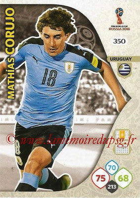 2018 - Panini FIFA World Cup Russia Adrenalyn XL - N° 350 - Mathias CORUJO (Uruguay)