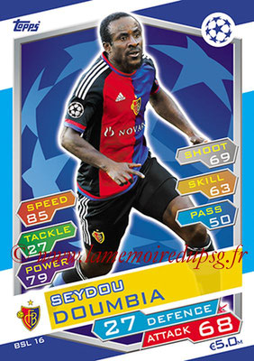 2016-17 - Topps UEFA Champions League Match Attax - N° BSL16 - Seydou DOUMBIA (FC Bale)