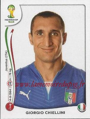 2014 - Panini FIFA World Cup Brazil Stickers - N° 322 - Giorgio CHIELLINI (Italie)