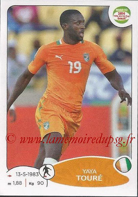 2014 - Panini Road to FIFA World Cup Brazil Stickers - N° 391 - Yaya TOURE (Côte d'Ivoire)