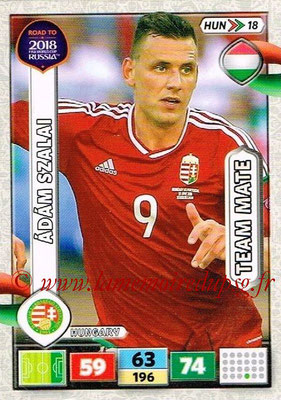 2018 - Panini Road to FIFA World Cup Russia Adrenalyn XL - N° HUN18 - Adam SZALAI (Hongrie)