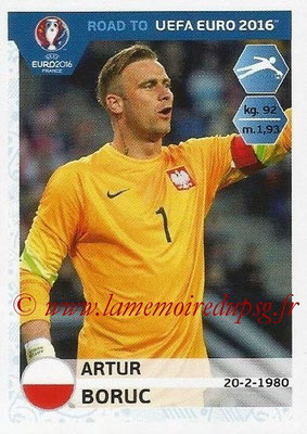 Panini Road to Euro 2016 Stickers - N° 210 - Artur BORUC (Pologne)