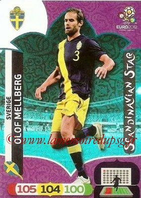 Panini Euro 2012 Cards Adrenalyn XL - N° 310 - Olof MELLBERG (Suède) (Scandinavian Star) (Nordic Edition)