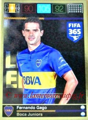 2015-16 - Panini Adrenalyn XL FIFA 365 - N° LE-FG - Fernando GAGO (Boca Juniors) (Limited Edition)