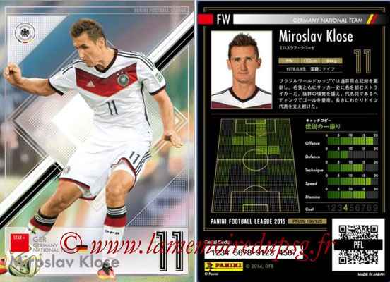 Panini Football League 2015 - PFL09 - N° 106 - Miroslav KLOSE (Allemagne) (Star +)