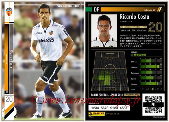 Panini Football League 2013 - PFL04 - N° 051 - Ricardo COSTA (FC Valence)