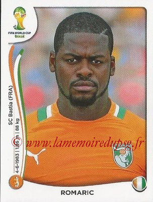 2014 - Panini FIFA World Cup Brazil Stickers - N° 235 - ROMARIC (Côte d'Ivoire)