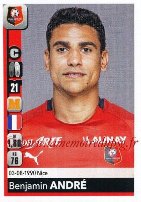 2018-19 - Panini Ligue 1 Stickers - N° 410 - Benjamin ANDRE (Rennes)