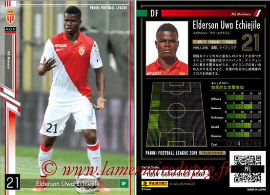 Panini Football League 2015 - PFL09 - N° 075 - Elderson UWA ECHIEJILE (AS Monaco)