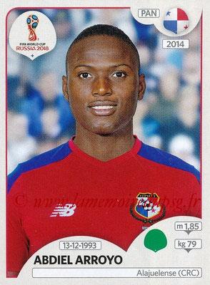 2018 - Panini FIFA World Cup Russia Stickers - N° 551 - Abdiel ARROYO (Panama)