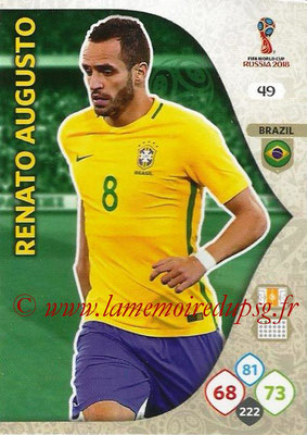 2018 - Panini FIFA World Cup Russia Adrenalyn XL - N° 049 - Renato AUGUSTO (Brésil)